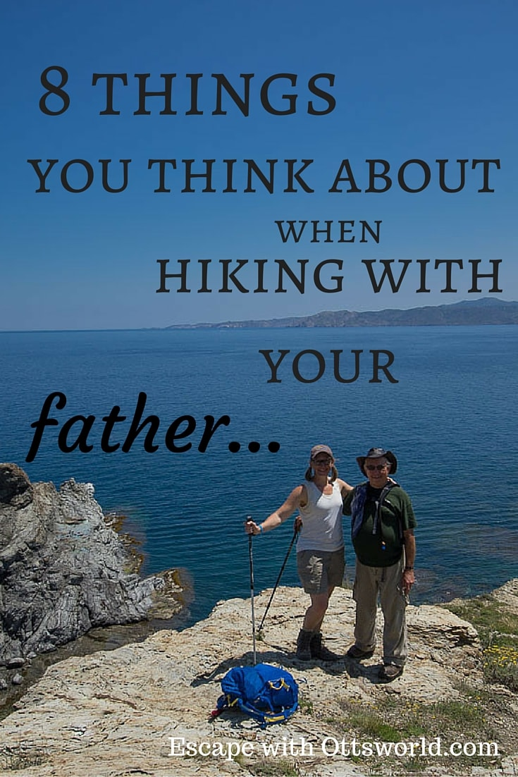 I may not ever have a father daughter wedding dance, but I much prefer to have memories of my father daughter travels. Hiking adventures with my dad in Costa Brava Spain.