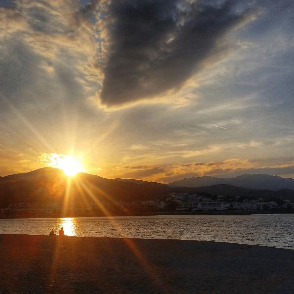 Sunset in L'lanca Spain camino de ronda