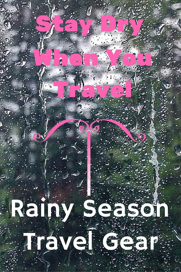 Rain doesn't matter if you have packed the right gear.  I've traveled/lived in very wet environments, and here is some of my favorite rainy season gear I take with me!