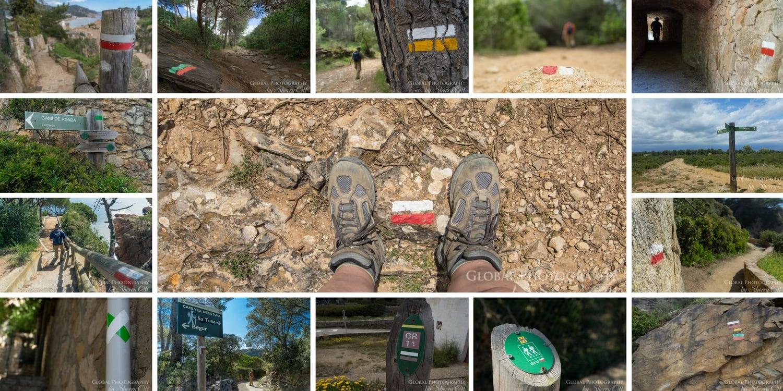 Camino de ronda trail markers