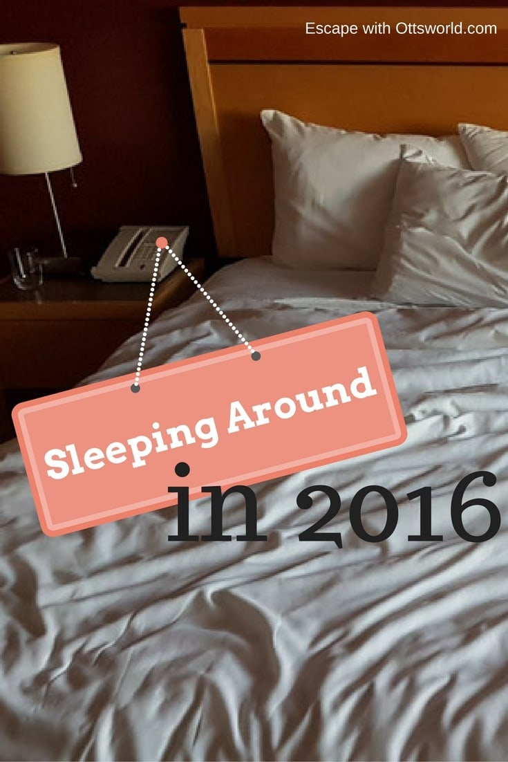 Sleeping Around!  As a nomad there's nothing you're more thankful for than a bed. Find out how many beds I've slept in this year & more