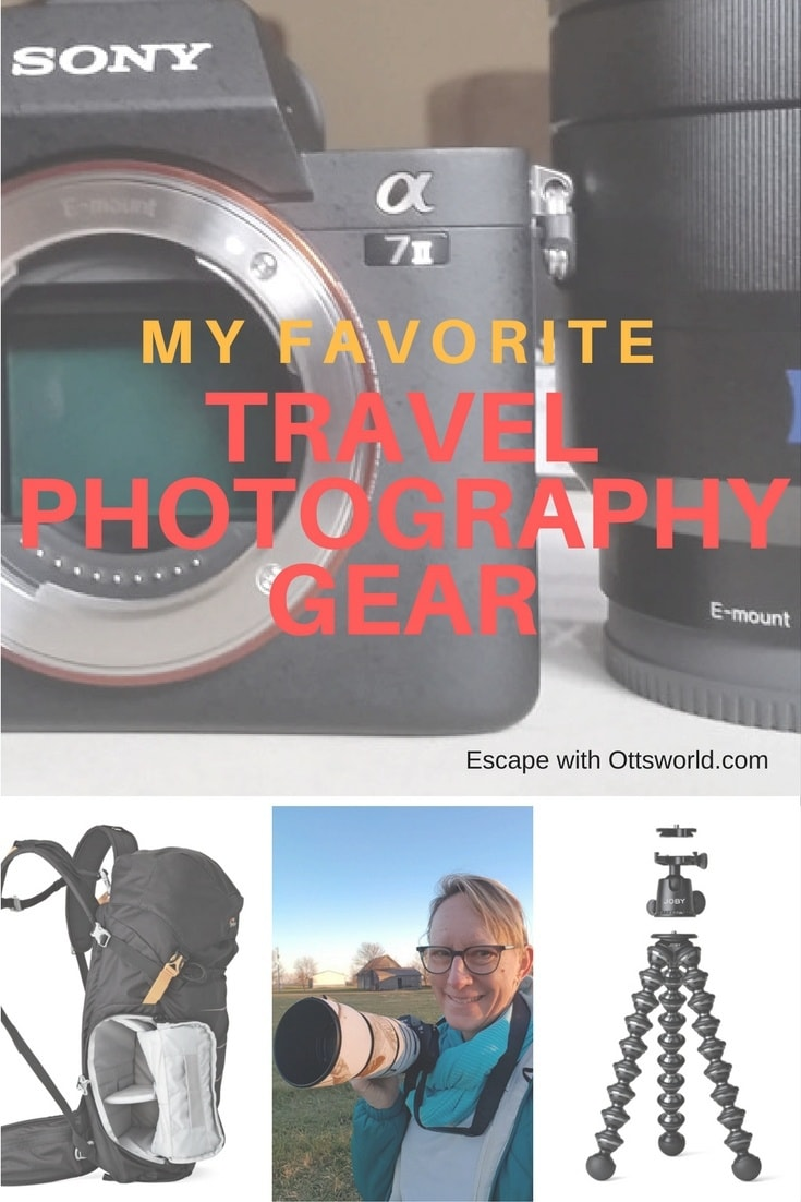 What travel photography gear I use when traveling, how I stay light but good quality, and what my experiences have been with the products.