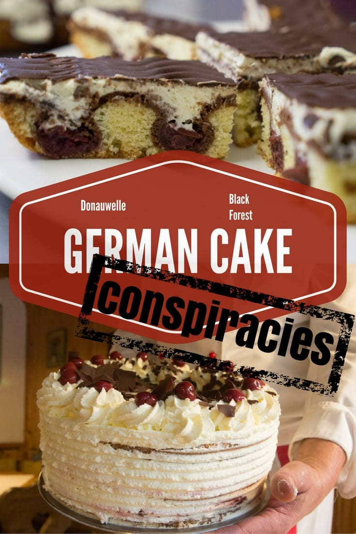 German Cakes and Conspiracy Theories Black Forest Cake and the Donauwelle cake - two cakes, same ingredients, but different shapes.  Why?