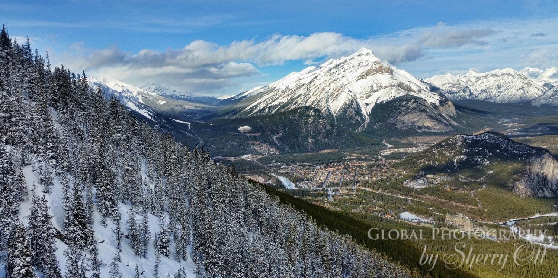 Banff from Sulphur mountain