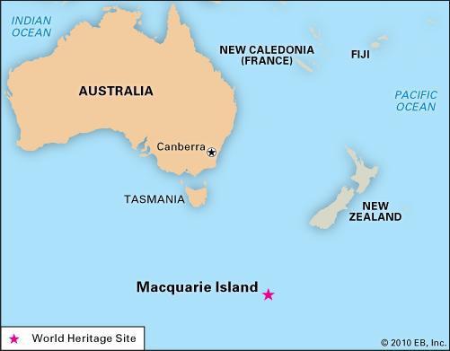 Macquarie Island map