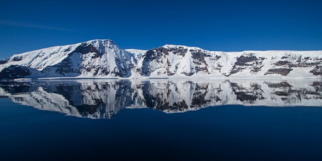 Coulman islands, one of the stops while traveling to Antarctica via the Ross Sea