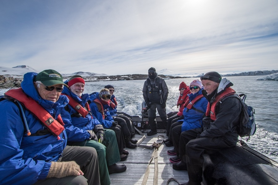 all of us on the zodiac while traveling to Antarctica