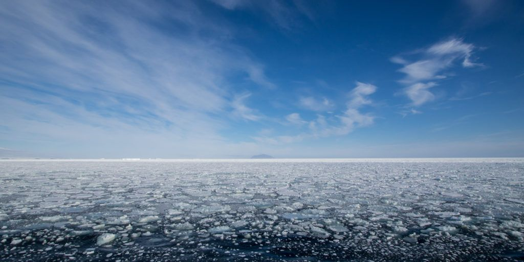 McMurdo Sound blocked by sea ice during my cruise through the Ross Sea
