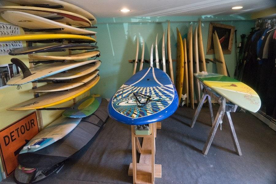 Maine Road Trip surfing