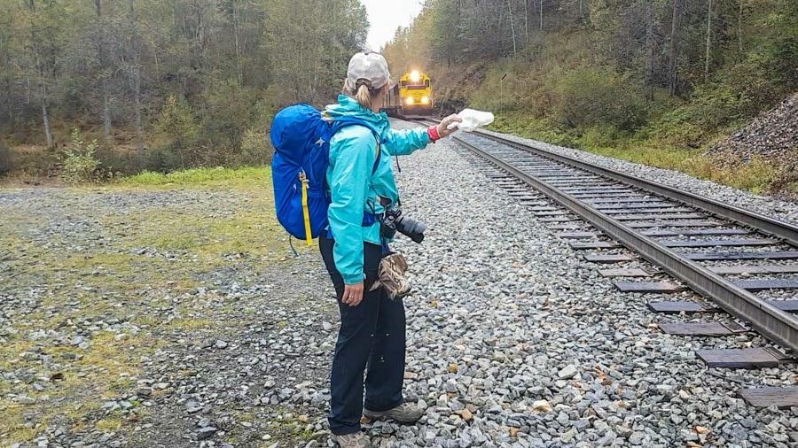 Alaska Railroad Flagstop train