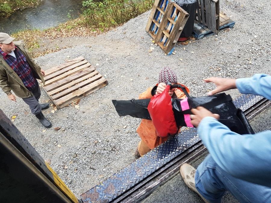 Alaskan railroad flagstop