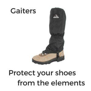 camino de santiago hiking gear gaiters
