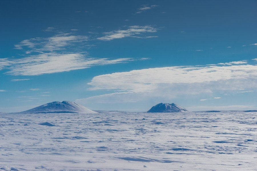 Tuktoyaktuk pingo winter