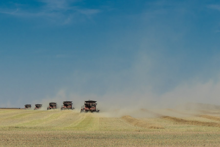 Alberta Badlands farming