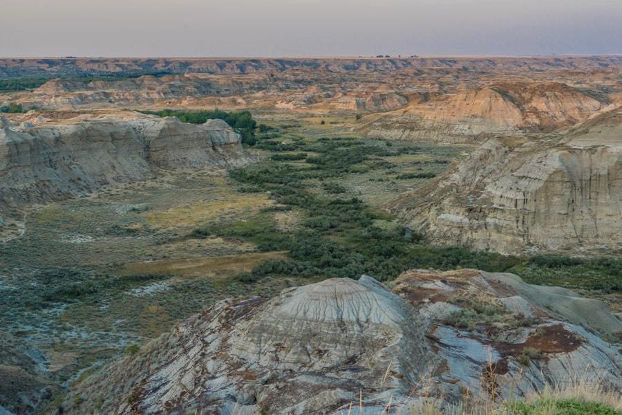 Canadian Badlands landscape view