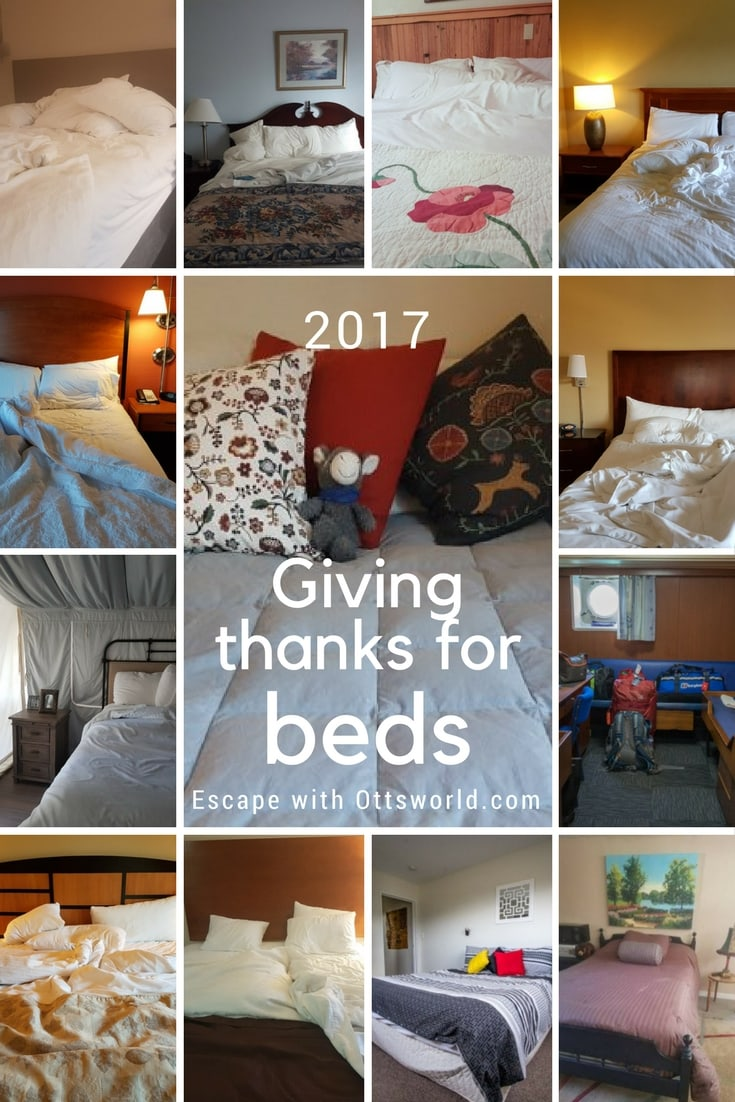 Even though I have a home base now, I still have slept around plenty in 2017.  My annual look at my favorite beds for the year and how many I have slept in!