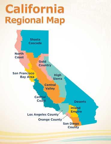 Discover California Regions