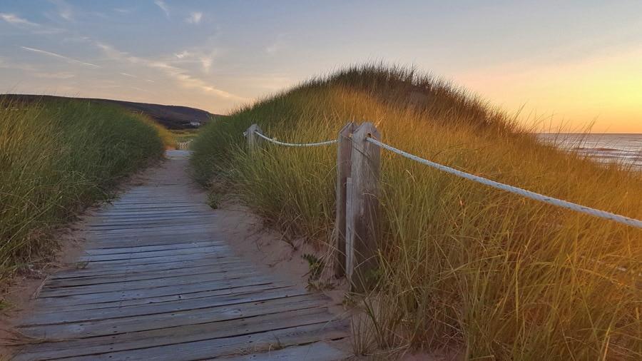 Cabot Links boardwalk inverness