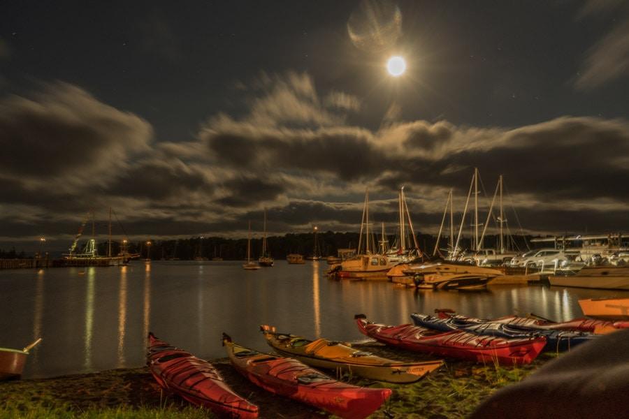 Baddeck full moon kayak