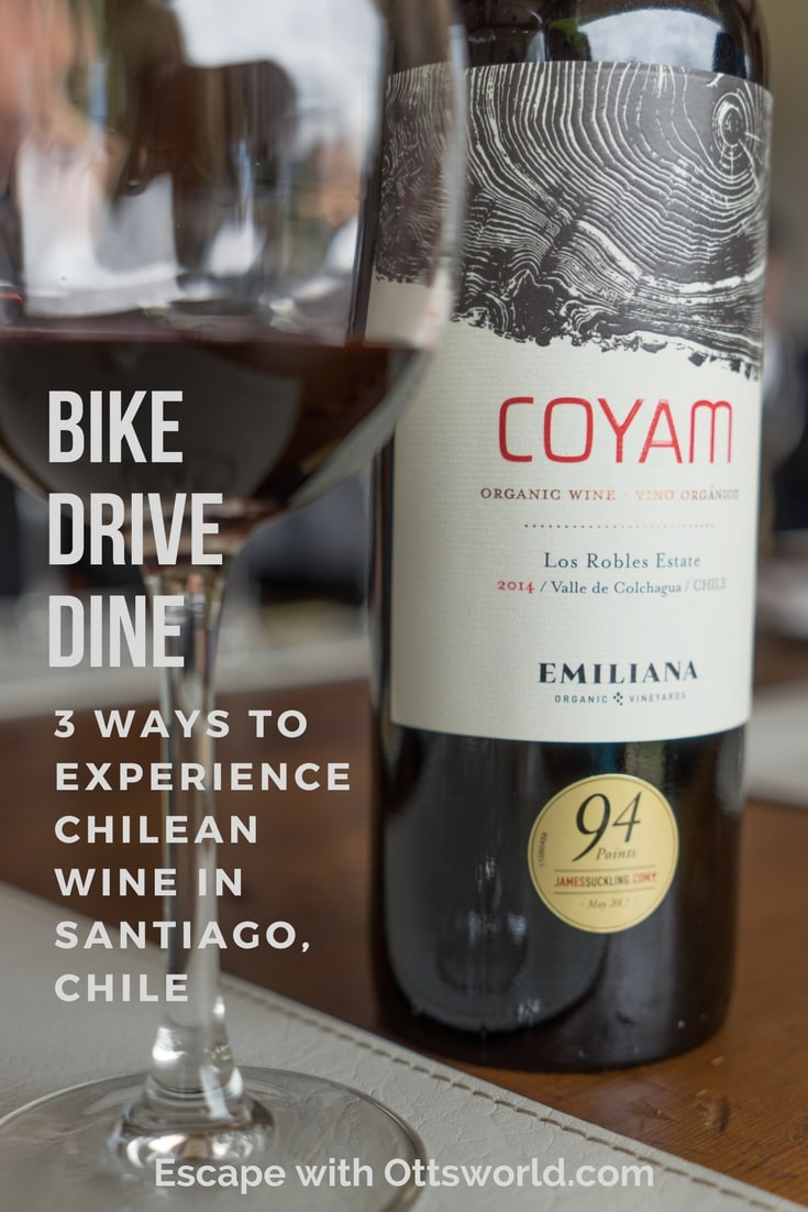 Visit an organic winery, bike through the vines outside of Santiago, and check out one of the best wine restaurants in Santiago, Chile