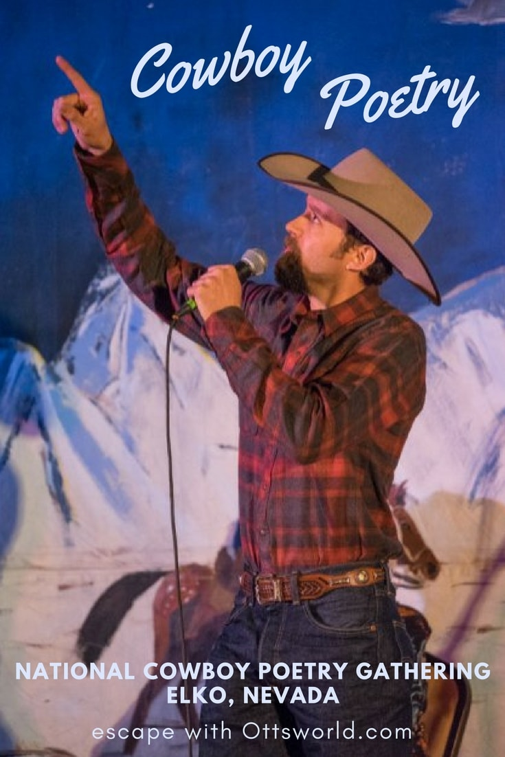 Exploring the foreign world of cowboy poetry at the National Cowboy Poetry Gathering Elko Nevada.
