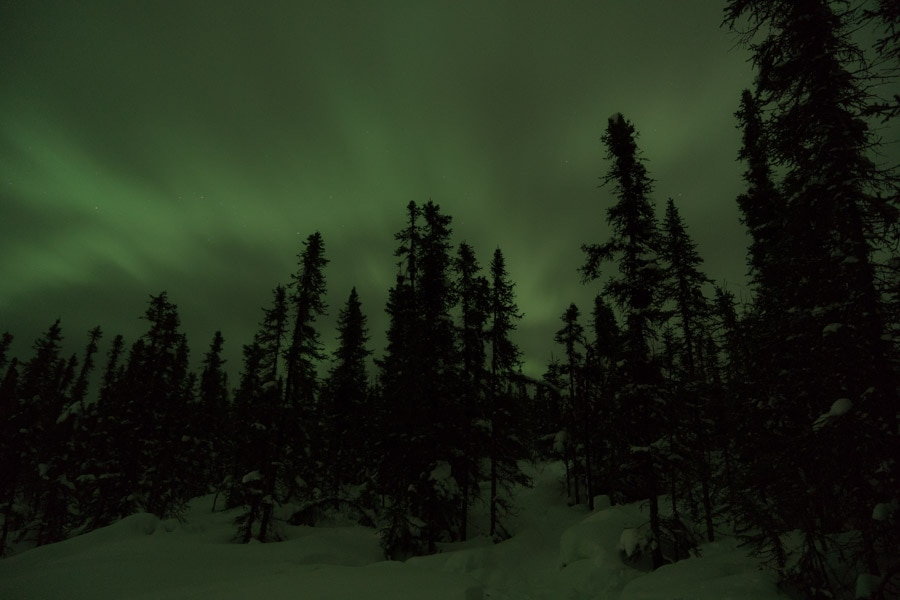 northern lights with teh naked eye