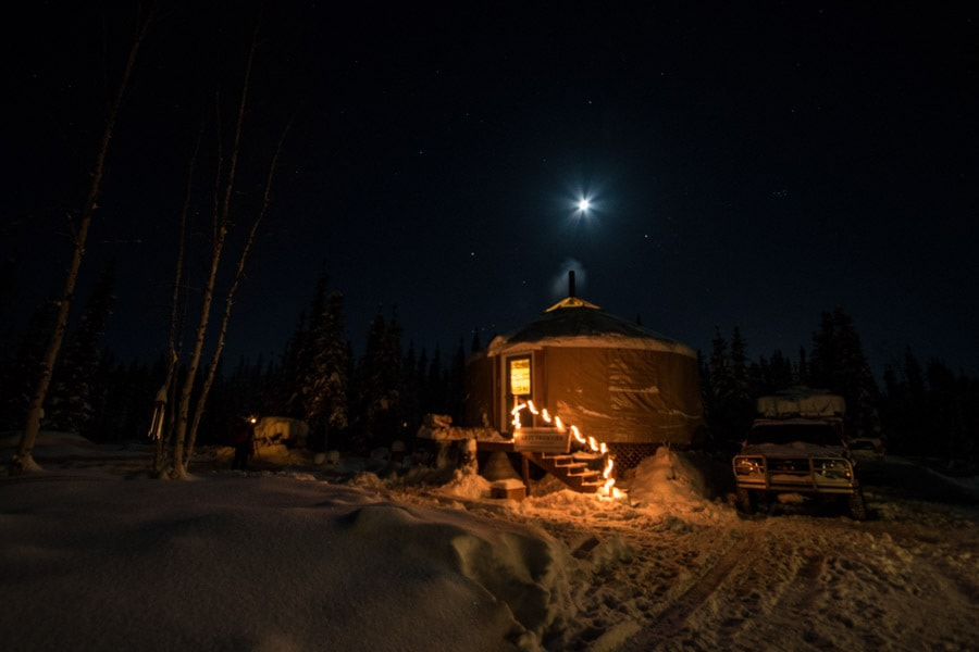 Fairbanks northern lights tour complete with yurt