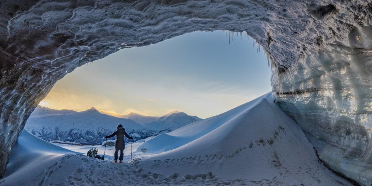 Alaska winter Black Rapids
