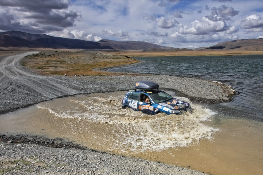 Mongol rally river crossing