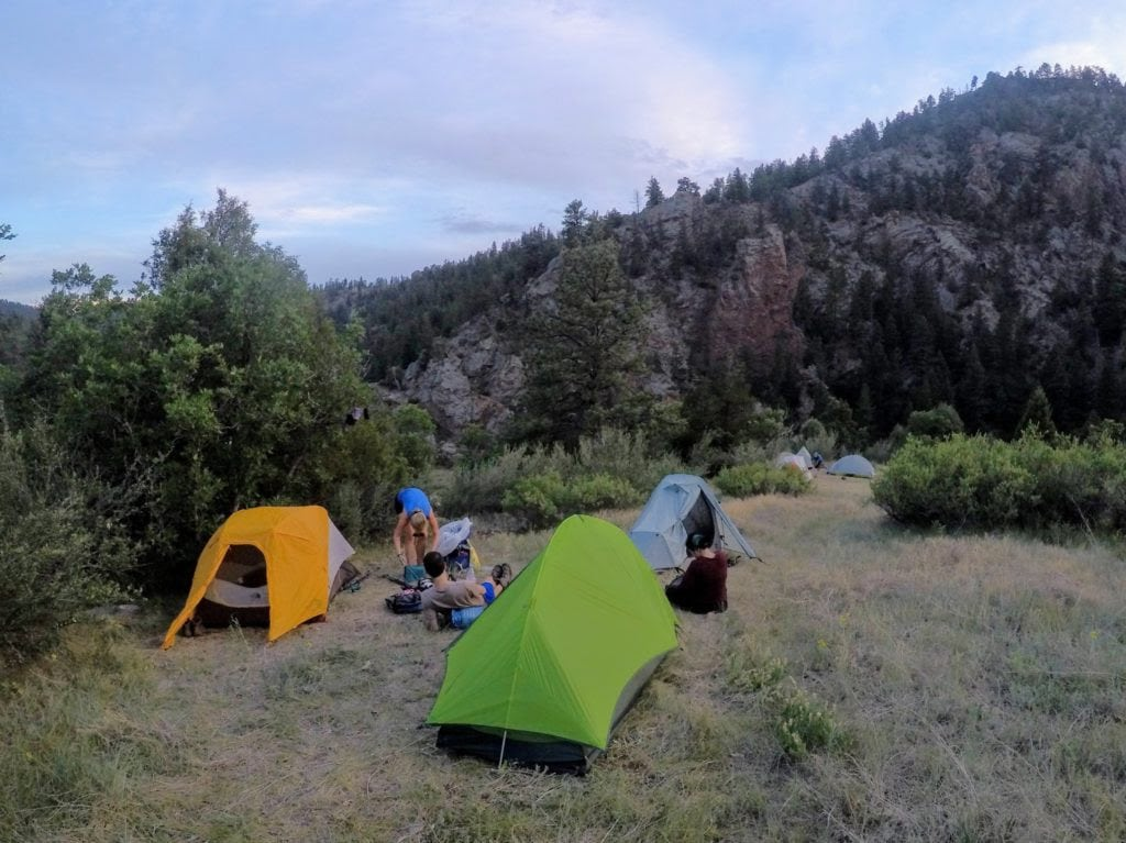 South Platte camp on the Colorado Trail