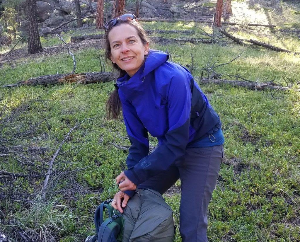 Michelle hiking the Colorado Trail