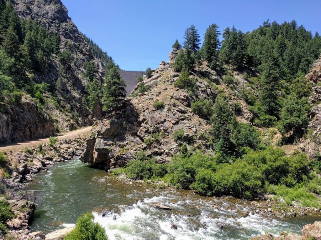 Strontia Springs Reservoir Dam on the Colorado Trail Thru Hike