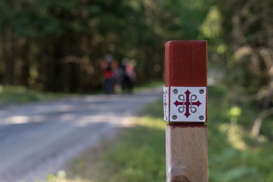 Saint Olav Ways trail markers
