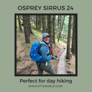 hiking gear day pack