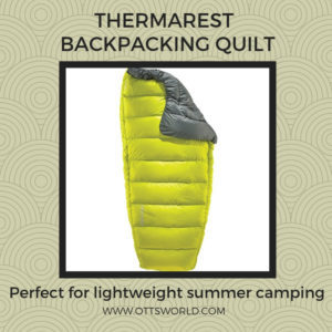 hiking gear camping quilt