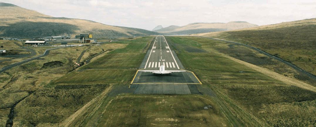 atlantic airways landing vagar faroe islands