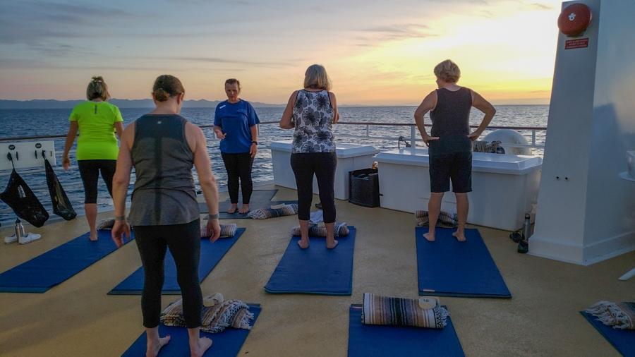 uncruise morning yoga
