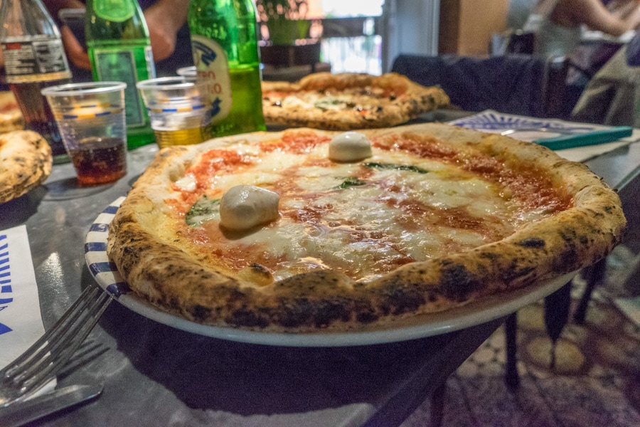 Margarita pizza is the traditional pizza style in Naples