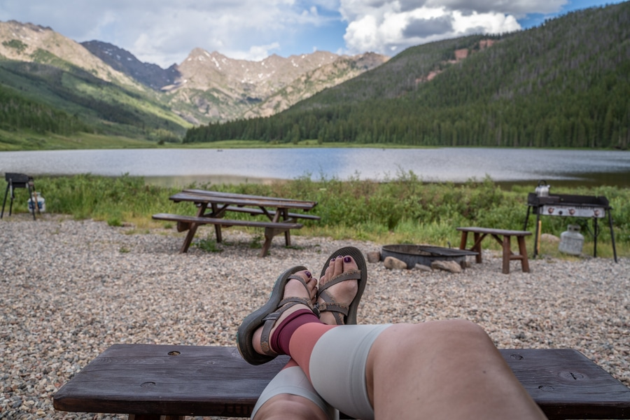 Compression sleeves for hiking