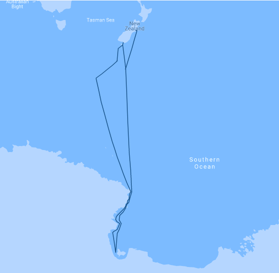Ross Sea Route to Antarctica Map