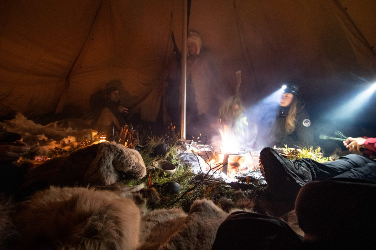tent cooking