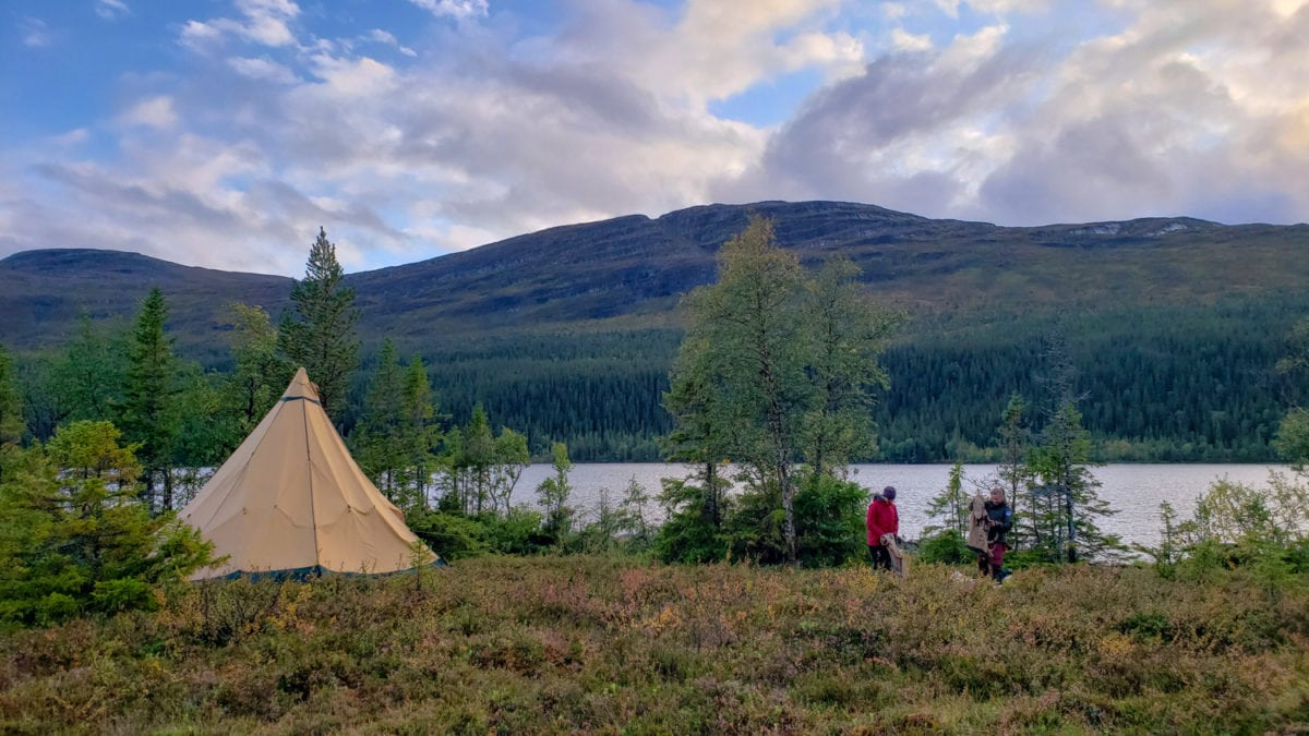 sweden countryside tepee tent