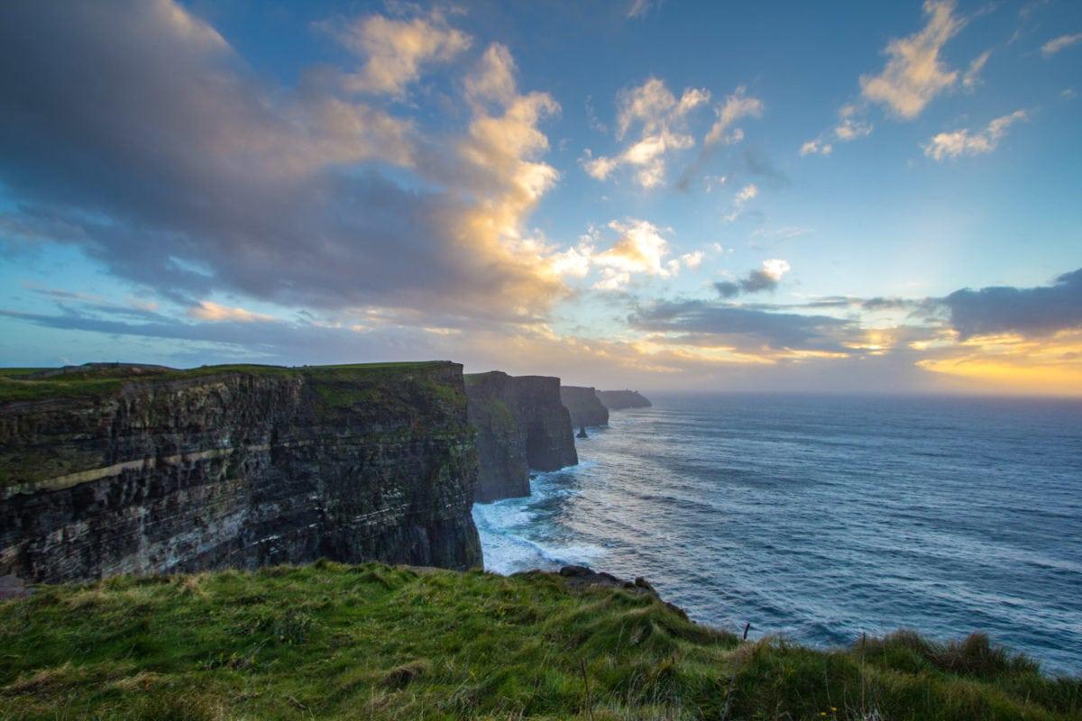 Cliffs of moher ireland sunset