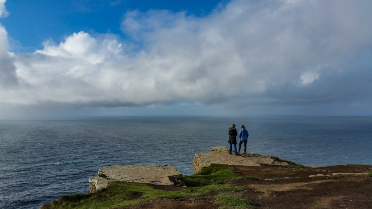 close to the edge cliffs of moher