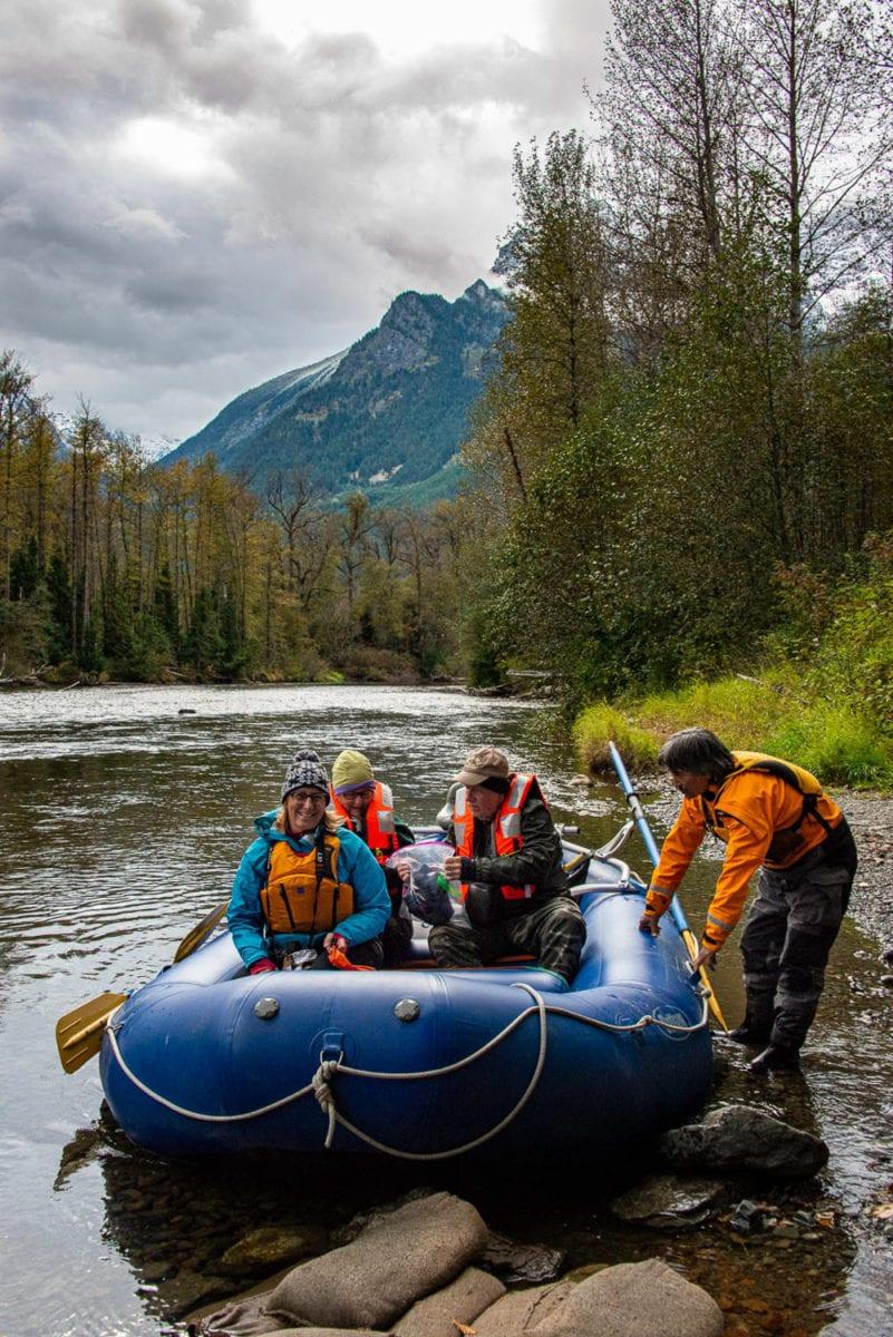 bear viewing river float