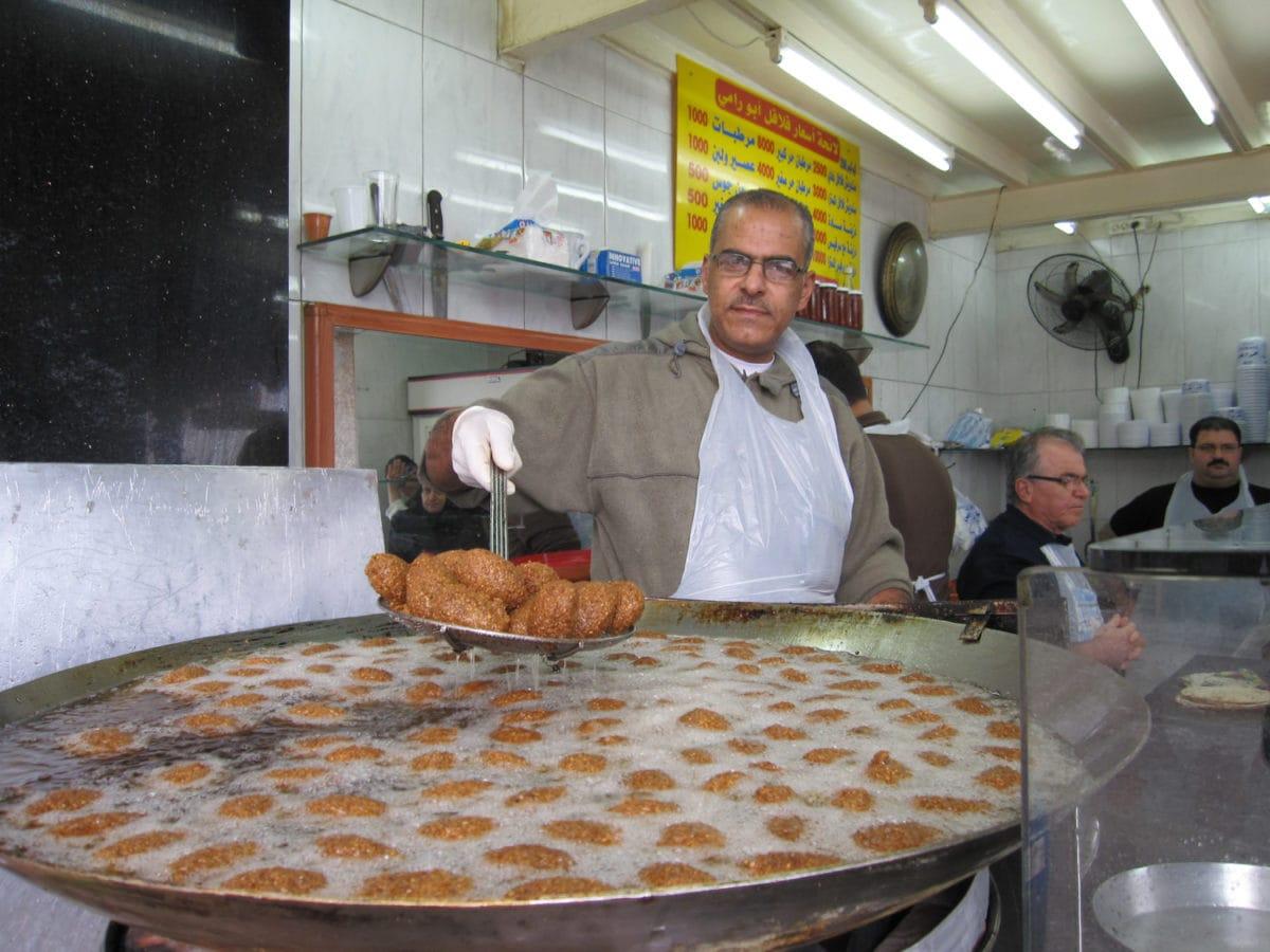 falafel maker in lebanon
