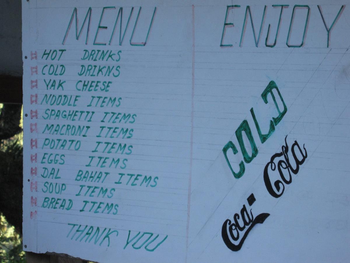 nepal menu