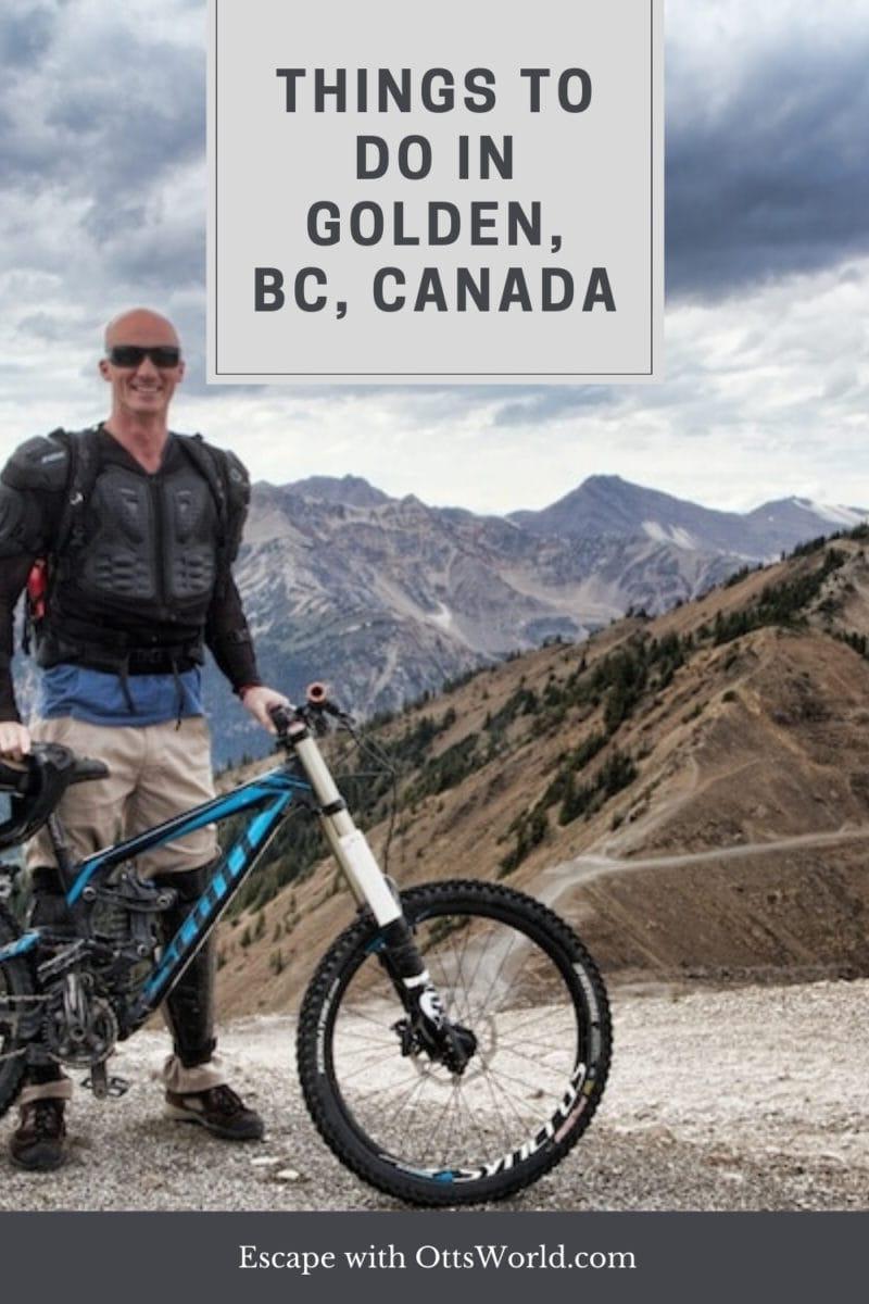 mountain biker golden british columbia canada