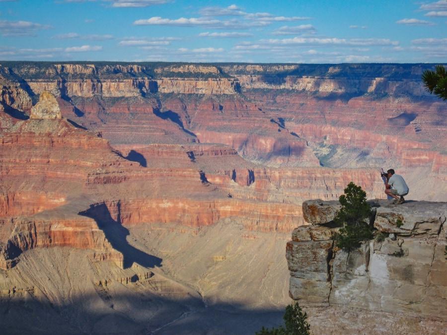 Grand canyon close to the edge