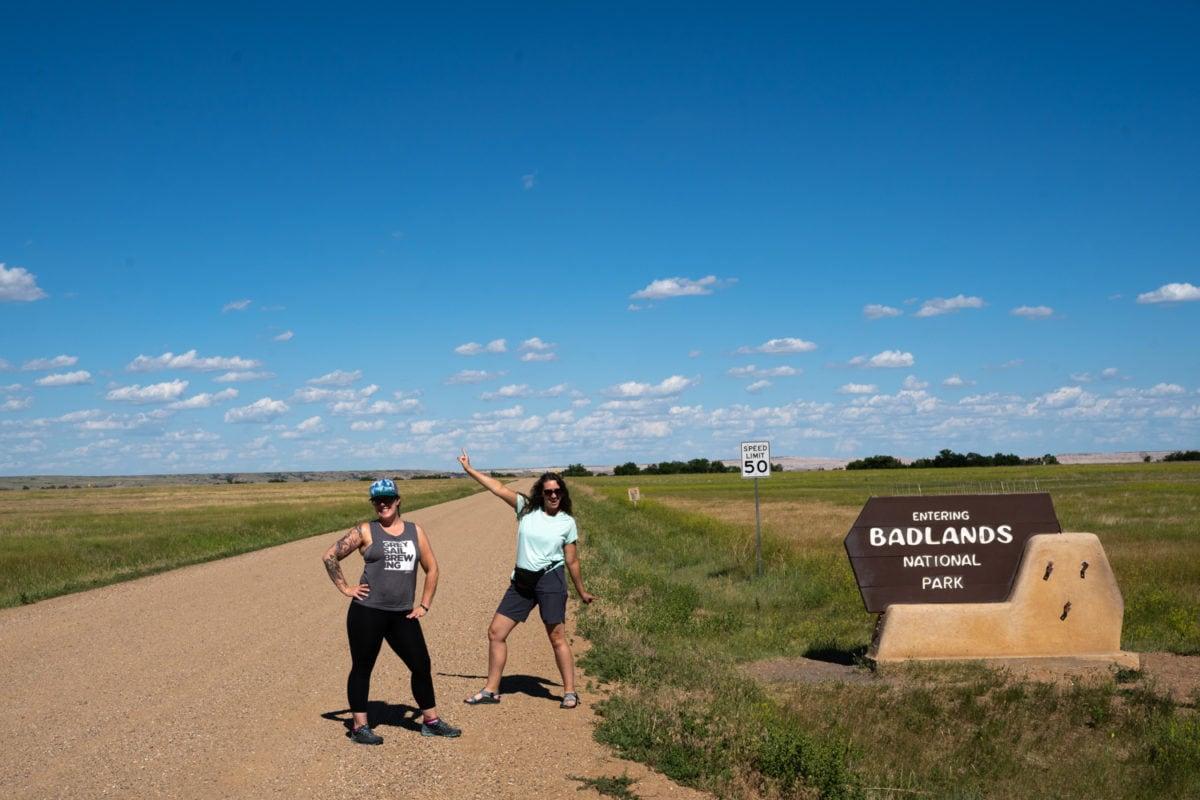 BAdlands national park entrance